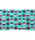Blizzard Fleece Fabric 59\u0022-Sailboats On Teal