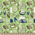 Snuggle Flannel Fabric -Green Hiking