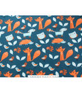 Blizzard Fleece Fabric 59\u0022-Sleepy Woodland Animals