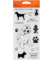Fiskars Clear Stamps-Barking Mad, , hi-res