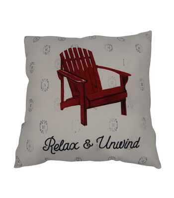 Camp Ann 18''x18'' Pillow-Red Chair