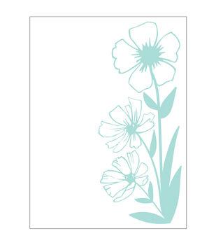 Park Lane A2 Embossing Folder-Wildflowers