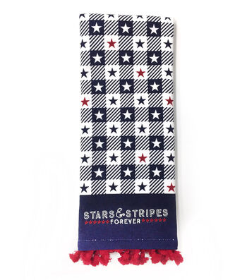 Americana Patriotic 16''x28'' French Terry Towel-Stars & Stripes Forever