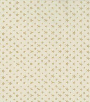 Patriotic Cotton Fabric 43''-Cream Stars on Beige