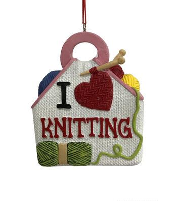 Maker's Holiday Christmas Ornament-I Heart Knitting