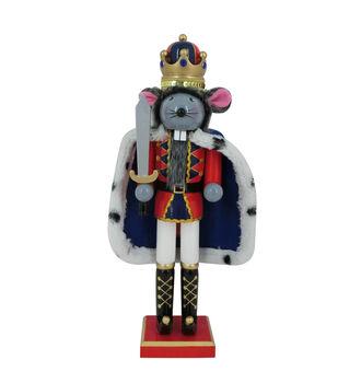 Handmade Holiday Christmas 15'' Mouse King Nutcracker