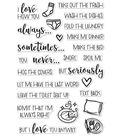Hero Arts 26 pk Clear Stamps-I Love How You...