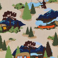 Novelty Cotton Fabric-Camping In The Wilderness