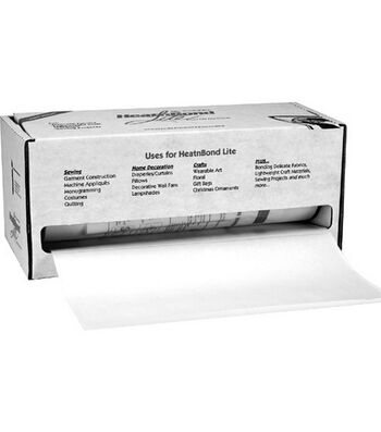 "HeatnBond Lite Iron-On Adhesive-White 17""X75yd"