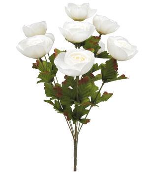 Blooming Autumn 18'' Ranunculus Bush-White