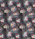 Premium Prints Cotton Fabric 43\u0022-Black Geo Dots