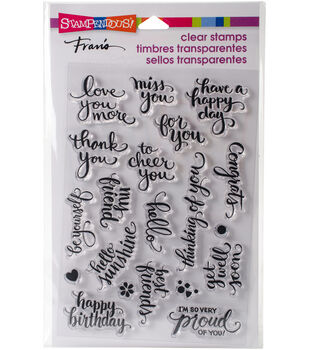 Stampendous 20 pk Perfectly Clear Stamps 4''x6''-Brushed Wishes