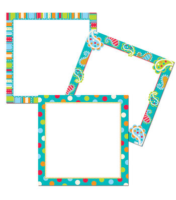 "Dots on Turquoise 6"" Designer Cut-Outs"