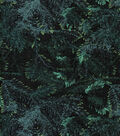 Holiday Inspirations Fabric-Christmas Pine Allover Glitter