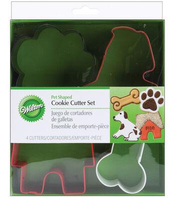 Wilton Metal Cookie Cutter Set-Pet Theme