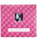 K&Company Pink Plaid Frame-A-Name 12\u0022x12\u0022 Scrapbook