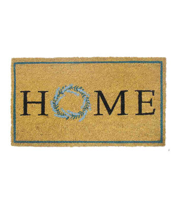 In the Garden Tufted Coir Mat-Home Wreath on Natural