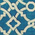Waverly Upholstery Fabric 54\u0022-Flourish Bluejay