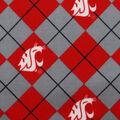 Washington State University Cougars Fleece Fabric -Argyle