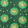 Christmas Harry Potter Metallic Cotton Fabric-Happy Christmas