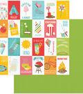 Summer Bucket List Double-Sided Cardstock 12\u0022X12\u0022-Bucket List
