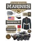 Paper House 4.5\u0027\u0027x8.5\u0027\u0027 3D Stickers-United States Marines