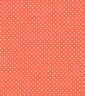 Quilter\u0027s Showcase Cotton Fabric 44\u0022-Pin Dot Coral