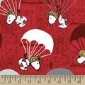 Peanuts Print Fabric-Red Snoopy Parachuting
