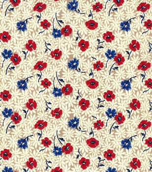 Keepsake Calico Cotton Fabric-Gagny Patriotic