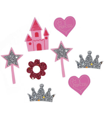 Foam Sticker Confetti-Princess 90/Pkg