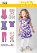 Simplicity Pattern 1435A 3-4-5-6-7--Child Sportswear