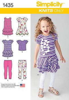 d167ff8e4 Simplicity Pattern 1435A 3-4-5-6-7--Child Sportswear