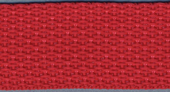 """Polyester Webbing 1"""" Wide 15 Yards-Red"""
