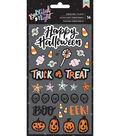 BOOtiful Night Puffy Stickers 4\u0022X7\u0022-Puffy Icons & Phrases