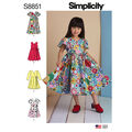 Simplicity Pattern S8851 Children\u0027s Dresses-Size A (3-4-5-6-7-8)