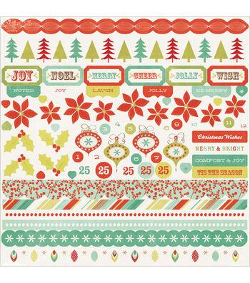"Mistletoe Cardstock Stickers 12""X12"""