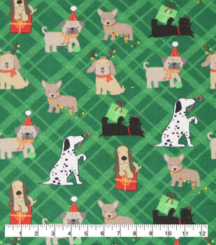 Super Snuggle Flannel Fabric-Playful Christmas Pups