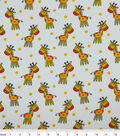 Snuggle Flannel Fabric -Happy Giraffes
