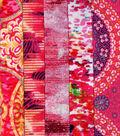 Jelly Roll Cotton Fabric Pack 2.5\u0027\u0027x42\u0027\u0027-Pink