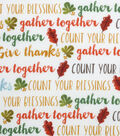 Harvest Cotton Fabric 43\u0022-Give Thanks Words