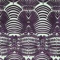 Embellished Mesh Fabric-Blackberry Wine