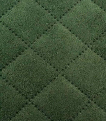 Fashion Suede - Embossed Olive Microsuede Poly