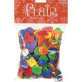 Flair Mega Bag of Buttons-Primary Shapes And Colors