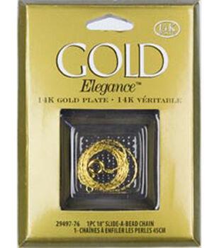 Gold Elegance Slide A Bead Chain