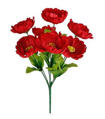 Fresh Picked Spring 13'' Poppy Bush-Red