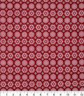 Christmas Cotton Fabric 43\u0022-Spiral Snowflakes
