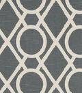 Robert Allen @ Home Lightweight Decor Fabric 55\u0022-Lattice Bamboo Greystone