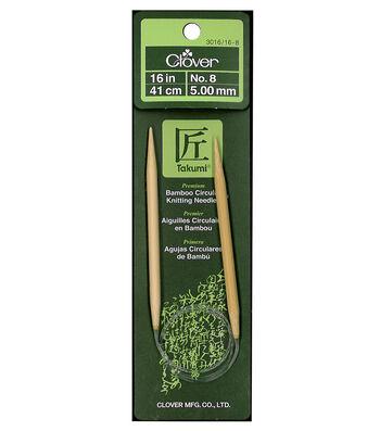 "Takumi Bamboo Circular Knitting Needles 16""-Size 8/5mm"