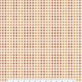 Harvest Cotton Fabric-Orane & Yellow Harvest Plaid