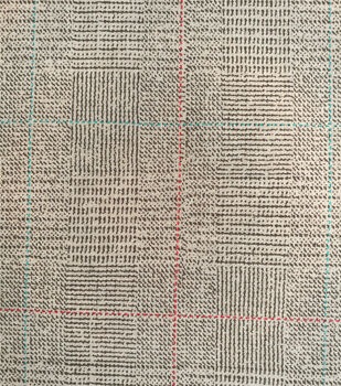 Refined Menswear Ponte Knit Fabric-Black & Tan Plaid